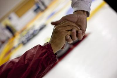 Photo of a welcoming hand shake