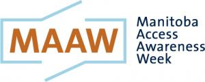 Graphic of Manitoba Access Awareness Week Logo