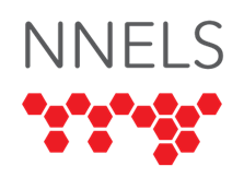 Graphic of NNELS Logo with NNELS in Black and Braille in red.