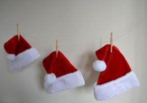 Photo of 3 Santa Hats